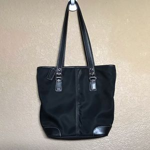 Black Small Tote Coach Bag